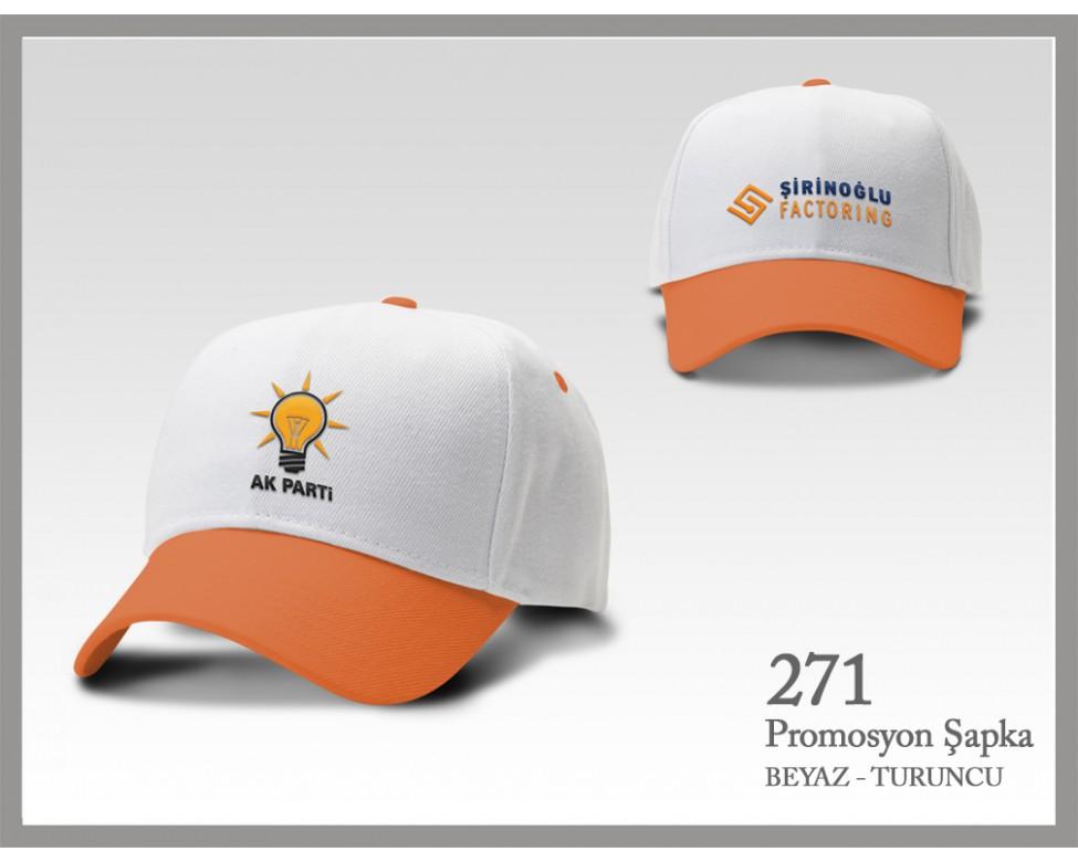 271-beyaz-turuncu-sapka